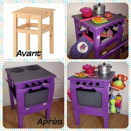 Fabriquer une cuisine pour enfant sous une etoile - Fabriquer bibliotheque enfant ...