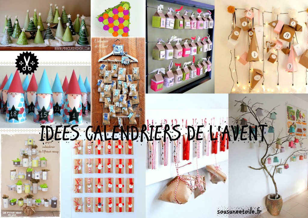 diy plein d id es de calendriers de l avent fabriquer sous une etoile. Black Bedroom Furniture Sets. Home Design Ideas