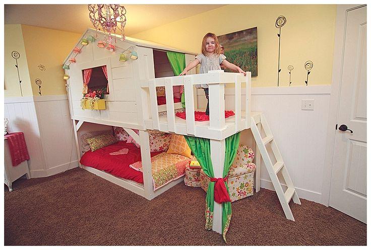 Diy transformer le lit kura d ikea sous une etoile - Lit cabane ikea ...