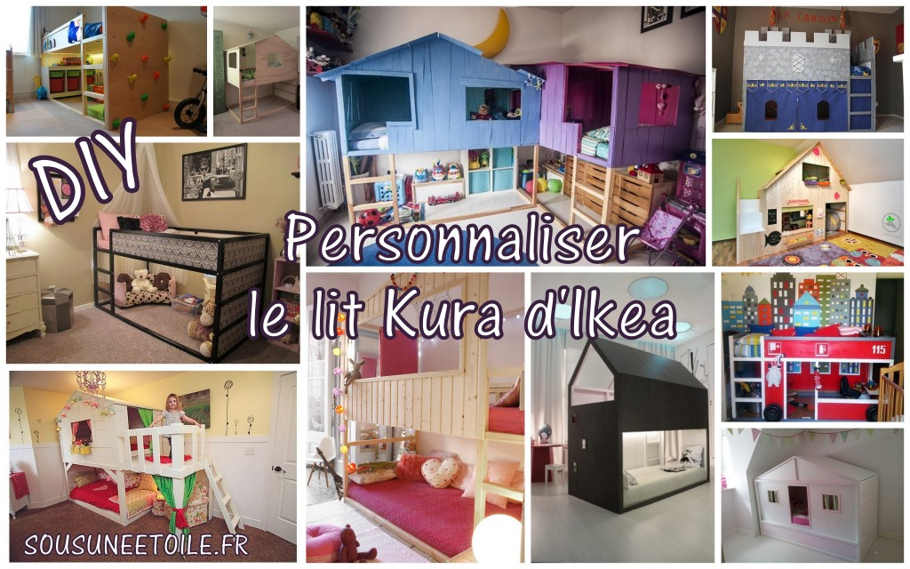 diy transformer le lit kura d ikea sous une etoile. Black Bedroom Furniture Sets. Home Design Ideas